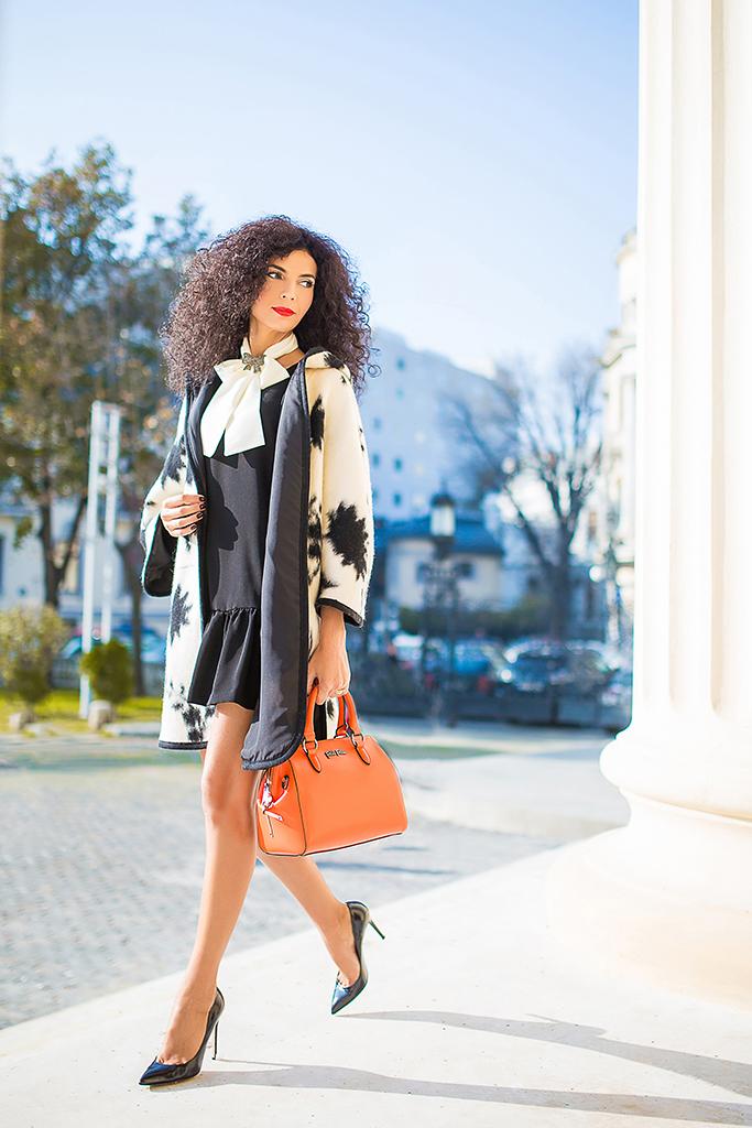 Simona Nicorina Burcea black and white look