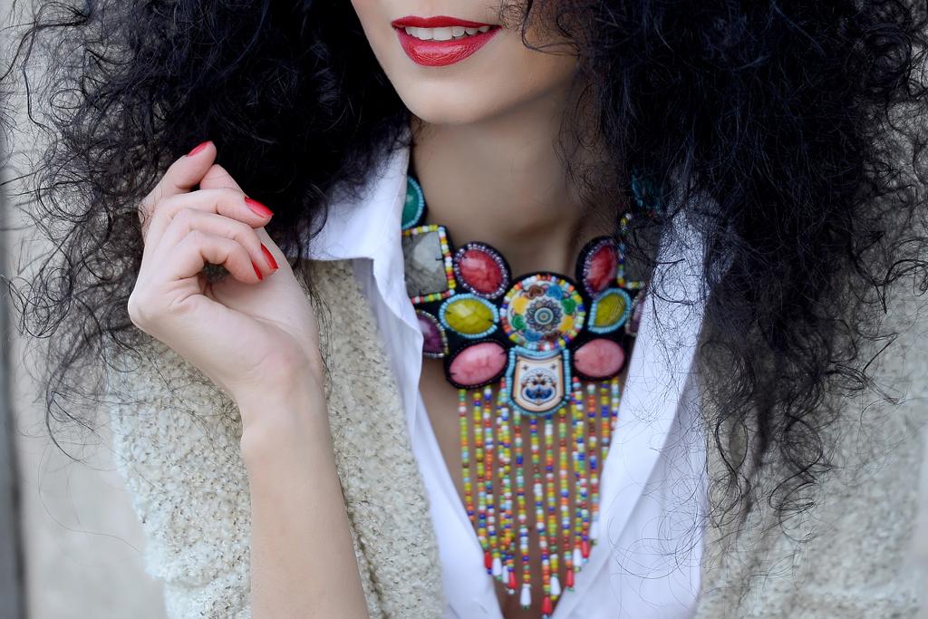 Simona Nicorina Burcea Colored beads necklace